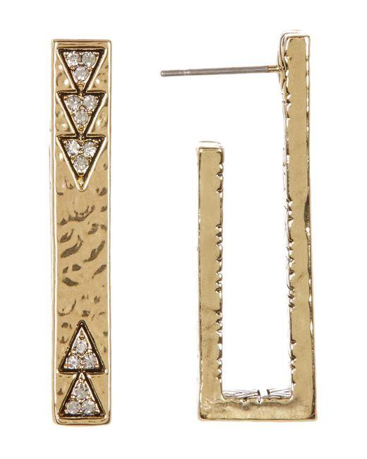 House of Harlow 1960 | Metallic Accented U-shaped Bar Stud Earrings | Lyst
