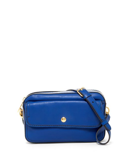 Cole Haan | Blue Benson Ii Leather Camera Bag | Lyst