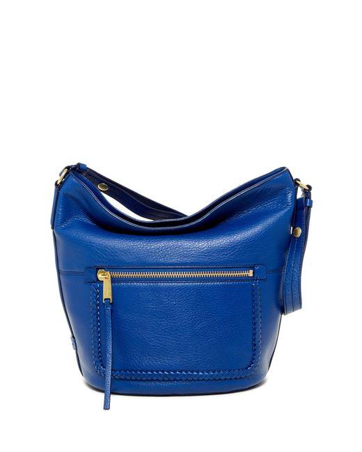 Cole Haan | Blue Celia Leather Bucket Hobo | Lyst