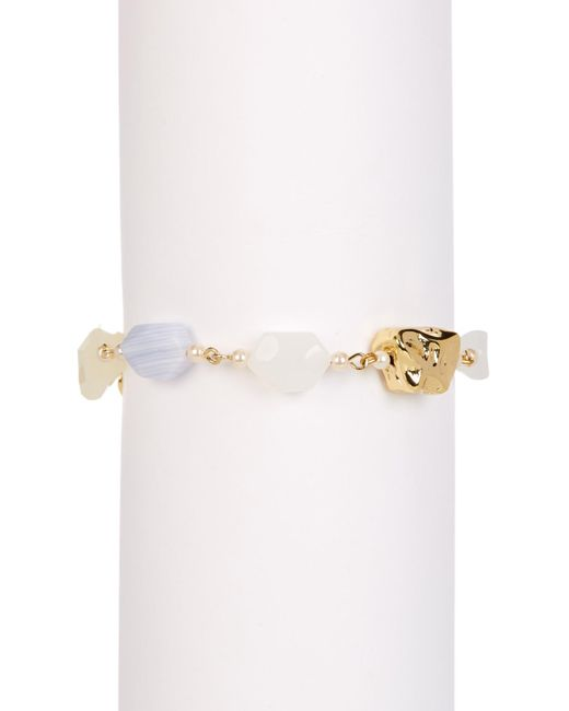 Carolee | Metallic Stone Linked Toggle Bracelet | Lyst