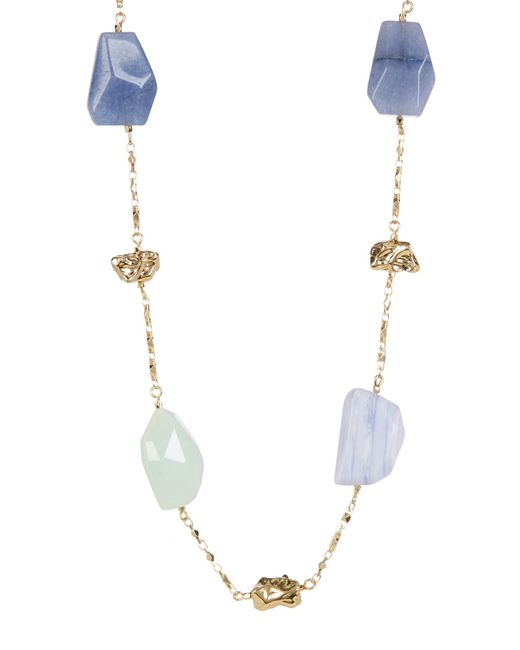 Carolee | Blue Irregular Stone Station Neckalce | Lyst