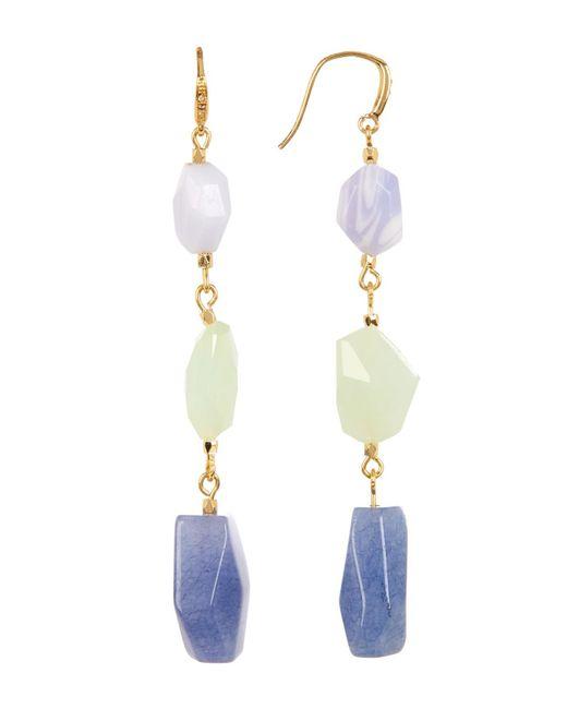 Carolee   Multicolor 12k Linear Mixed Shape Earrings   Lyst