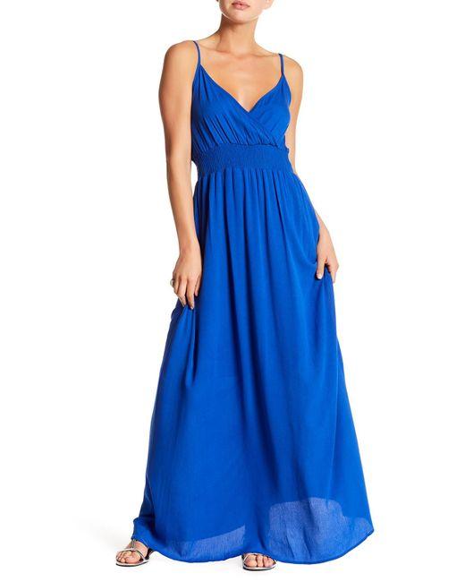 West Kei | Blue Gauze Maxi Dress | Lyst