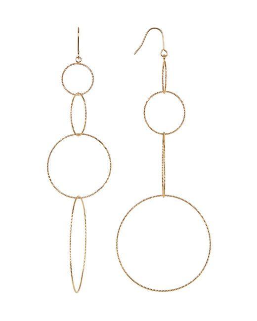 Panacea | Metallic Textured Multi Hoop Drop Earrings | Lyst