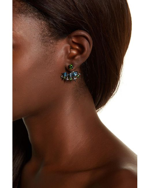 Stephen Dweck   Brown Sterling Silver Faceted Chrome Diopside, Amethyst, & London Blue Topaz Earrings   Lyst