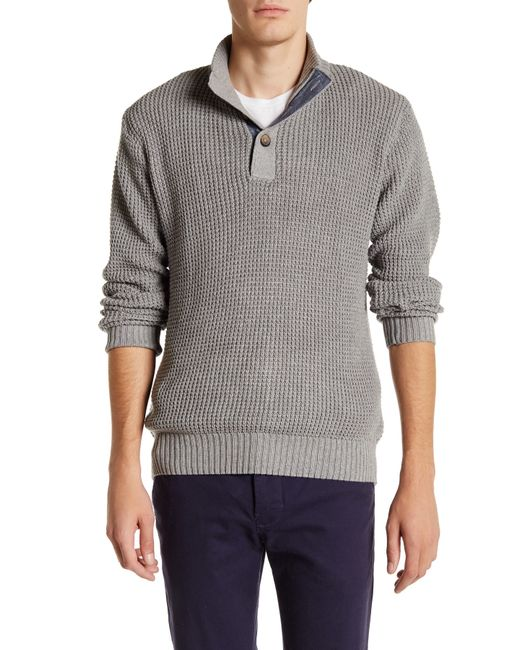 Weatherproof | Black Vintage Herringbone Mock Neck Pullover for Men | Lyst