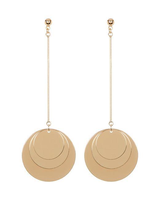 Cara | Metallic Multi Disc Drop Earrings | Lyst