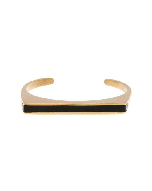 Soko | Black Horn Inlay Line Cuff Bracelet - Large | Lyst