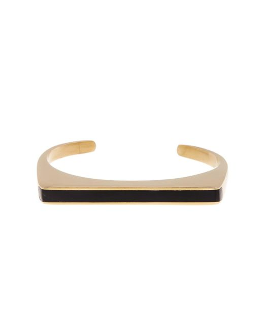 Soko | Natural Horn Inlay Line Cuff Bracelet - Large | Lyst