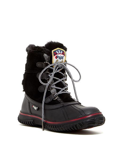Pajar | Black Iceberg Faux Fur Waterproof Boot | Lyst