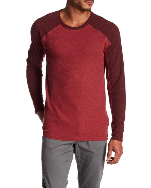 Agave | Red Lookout Long Sleeve Slub Tee for Men | Lyst
