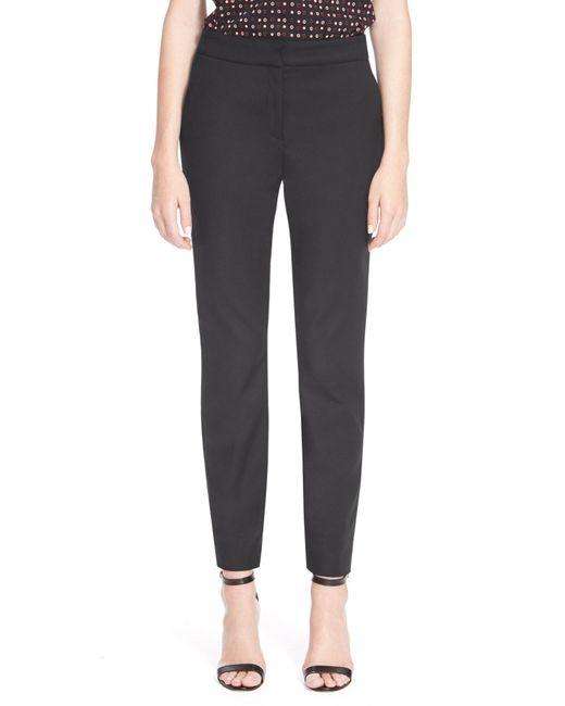 St. John | Black 'emma' Micro Ottoman Crop Pants | Lyst