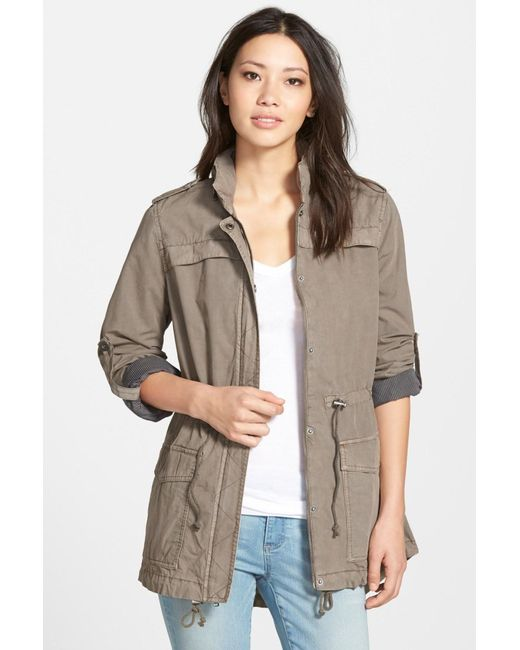 Levi's | Gray Lightweight Cotton Hooded Jacket | Lyst