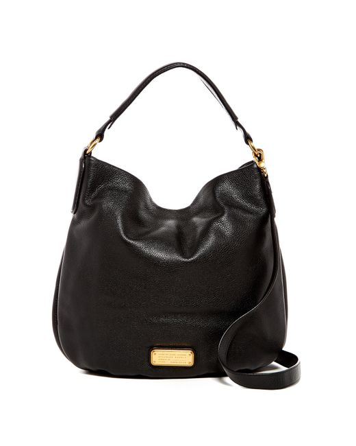 Marc Jacobs | Black New Q Hillier Leather Hobo | Lyst