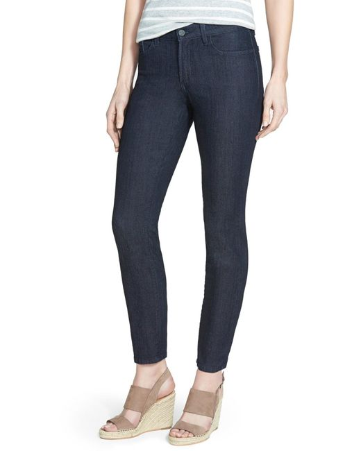 NYDJ | Blue Clarissa Colored Stretch Ankle Skinny Jeans | Lyst