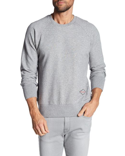 Rag & Bone | Gray Embroidered Logo Pullover for Men | Lyst