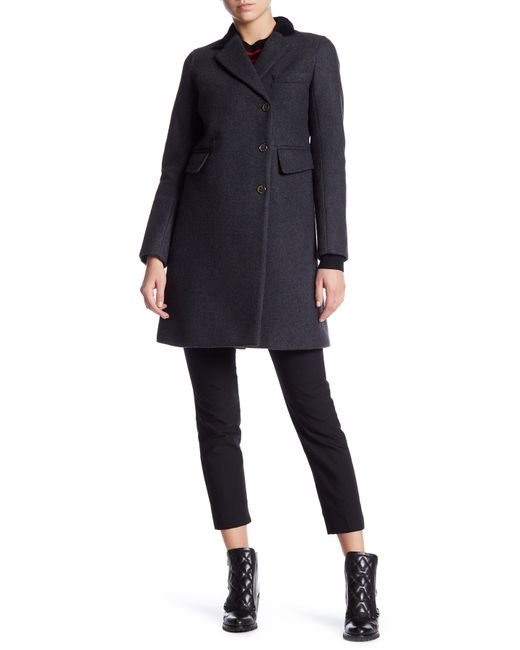 Marc By Marc Jacobs | Gray Crombie Wool Blend Coat | Lyst