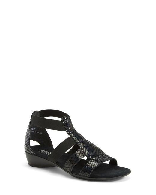 Munro | Black 'zena' Snake Embossed Sandal (women) - Multiple Widths Available | Lyst