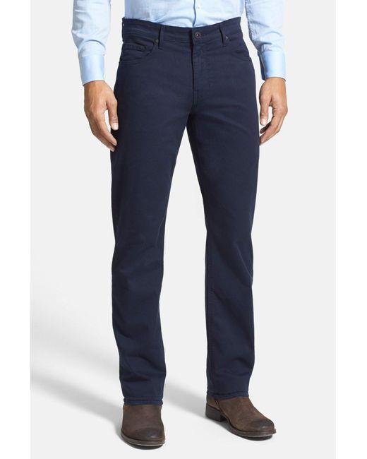PAIGE | Blue Normandie Slim Straight Leg Twill Pants for Men | Lyst