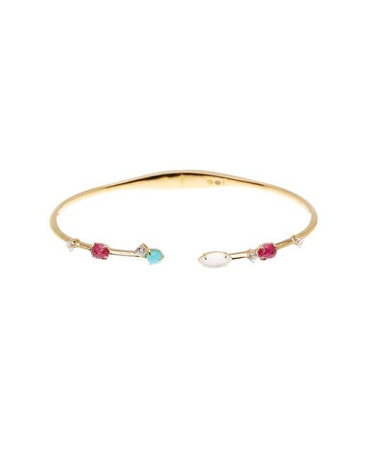 Nadri | Metallic Open Hinge Stone Bracelet | Lyst