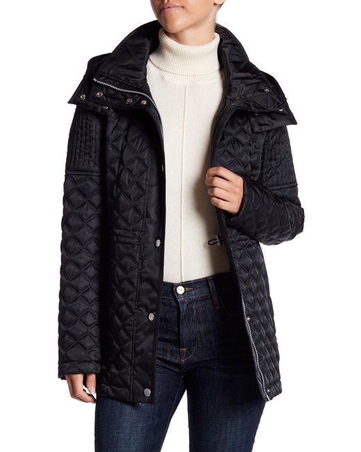 Marc New York | Black Calypso Quilted Removable Hood Jacket | Lyst