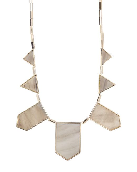 House of Harlow 1960 | White Stone Detail Station Necklace | Lyst