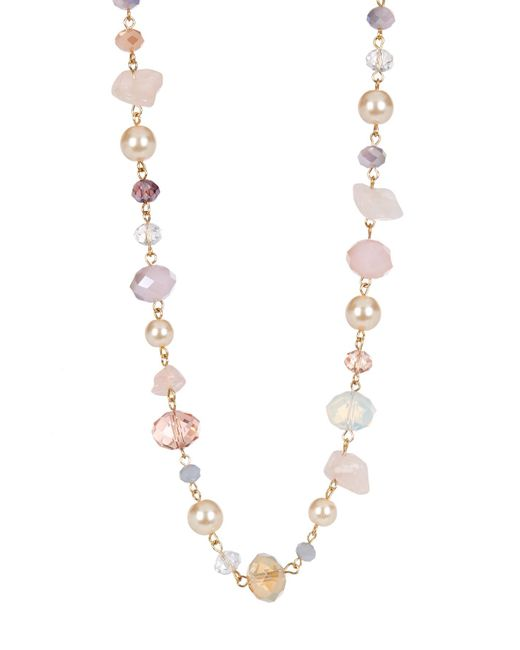 Carolee | Multicolor Mix Beaded Necklace | Lyst
