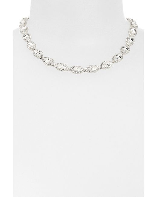 Nadri | White Marquise Cz Necklace | Lyst