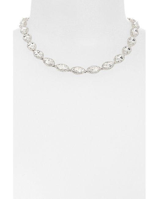 Nadri | White Marquise Cz Necklace | Lyst