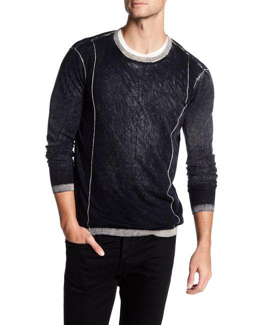Autumn Cashmere | Black Inked Contrast Crew Neck Shirt for Men | Lyst