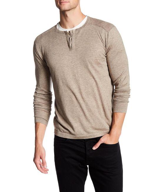 Autumn Cashmere   Natural Hidden Button Up Henley Shirt for Men   Lyst