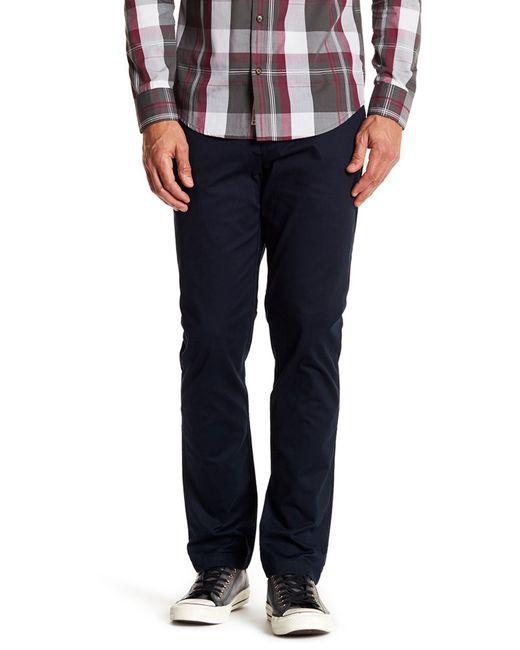 "Original Penguin | Blue Bedford Solid Stretch Pants - 32"" Inseam for Men | Lyst"