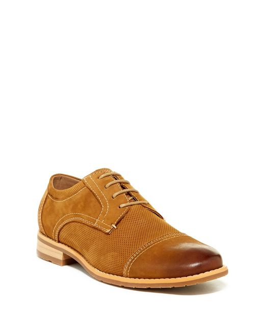 Steve Madden | Brown Dudly Cap Toe Derby for Men | Lyst