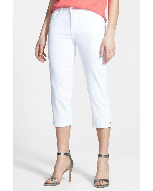 NYDJ | White Bella Colored Straight Leg Stretch Crop Jean (petite) | Lyst