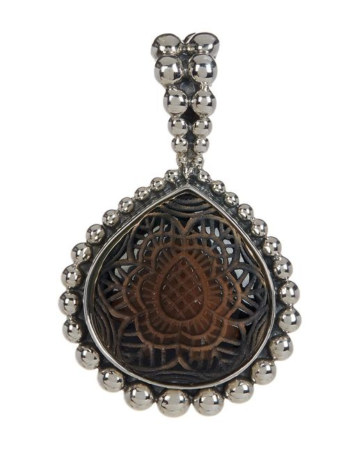 Stephen Dweck | Metallic Sterling Silver Carved Smoky Quartz Pendant | Lyst