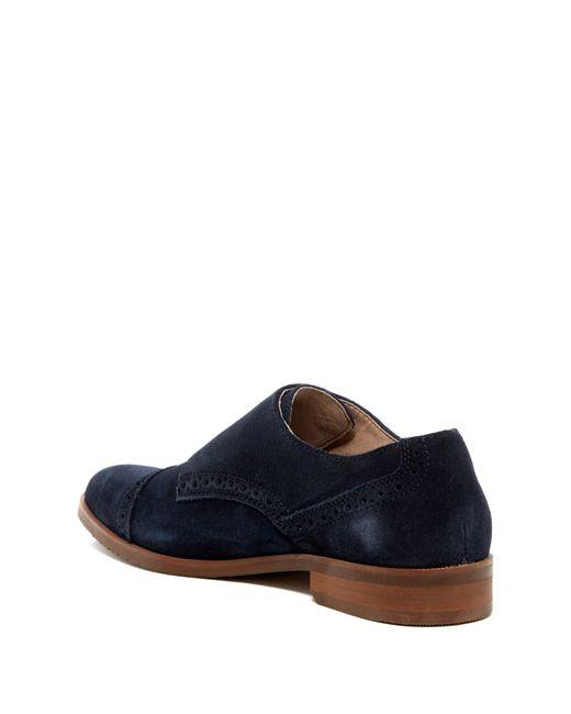 original penguin monk 2x cap toe dress shoe in blue for
