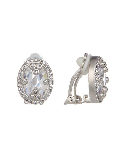 Freida Rothman | Metallic Mirror Mirror Cz Clip Earrings | Lyst