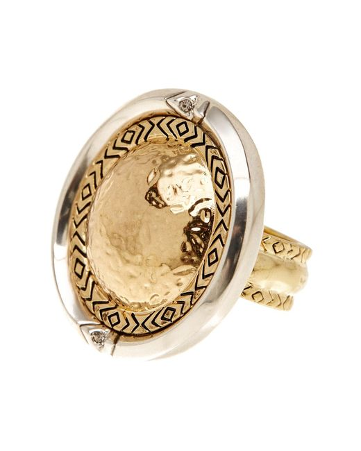 House of Harlow 1960 | Metallic Engraved Round Statement Ring - Size 7 | Lyst