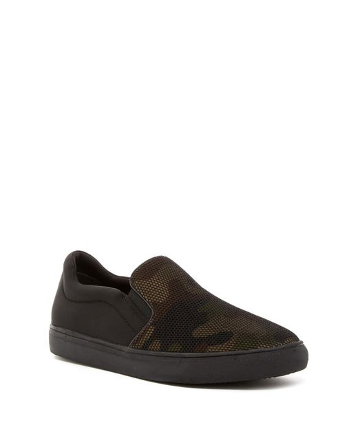 Kenneth Cole Reaction | Black Camo Slip-on Sneaker for Men | Lyst