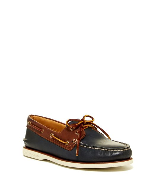 Sperry Top-Sider | Brown Gold Authentic Original 2-eye Catskill Boat Shoe for Men | Lyst