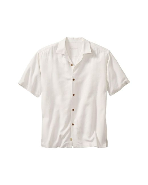 Tommy Bahama | White 'lei Riviera Jacquard' Regular Fit Silk Camp Shirt for Men | Lyst