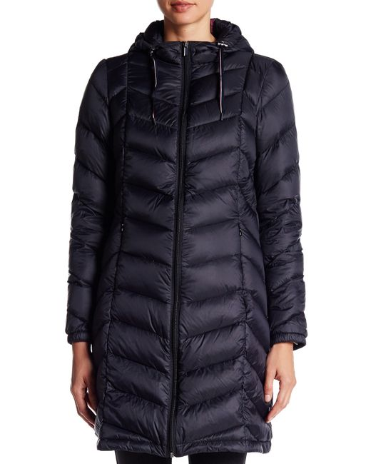 Tommy Hilfiger Packable Natural Down Quilted Long Jacket