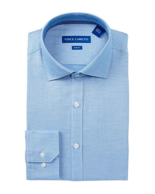 Vince Camuto   Blue Oxford Trim Fit Dress Shirt for Men   Lyst