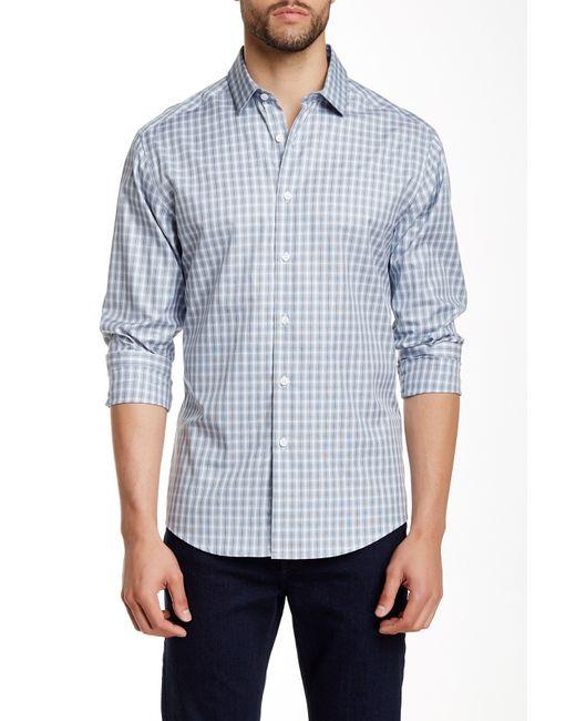 Vince Camuto | Blue Printed Long Sleeve Regular Fit Shirt for Men | Lyst