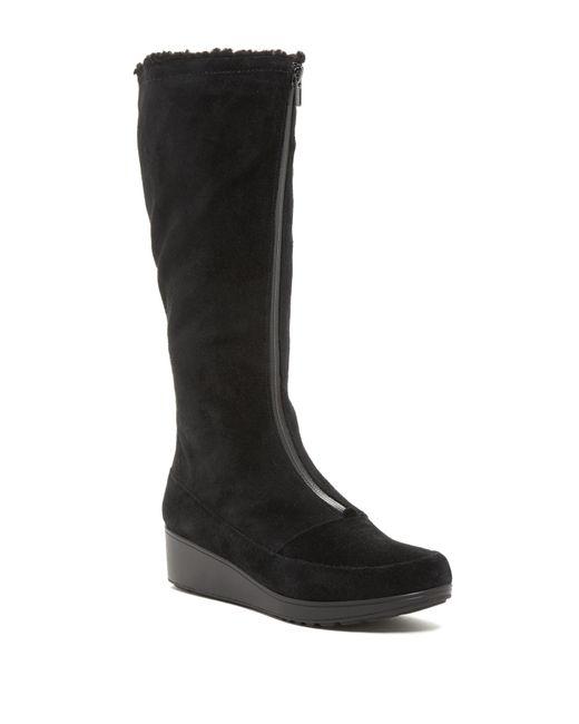 Cole Haan | Black Yonkers Waterproof Faux Fur Lined Boot | Lyst