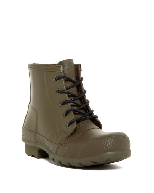 Hunter | Green Original Waterproof Lace-up Boot | Lyst