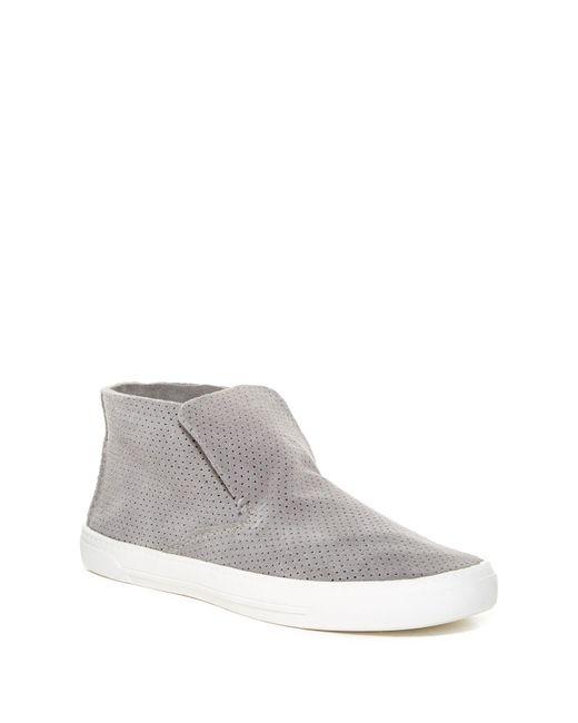 Dolce Vita Xavier Perforated Slip On Sneaker In Gray For
