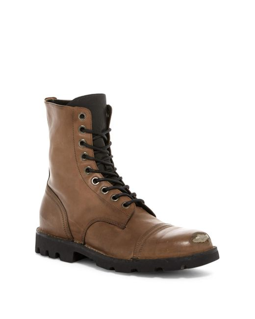 DIESEL | Brown Hardkore Steel Boot for Men | Lyst