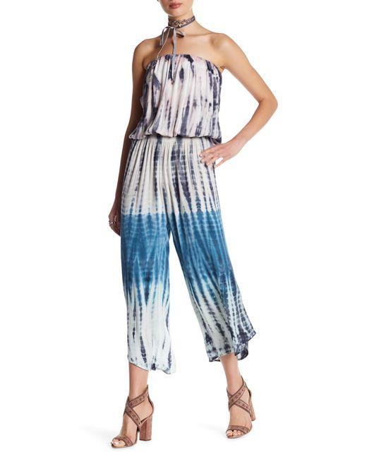 Young Fabulous & Broke   Blue Avianna Strapless Jumpsuit   Lyst