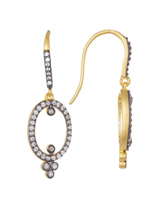 Freida Rothman   Metallic Metropolitan Mother Of Pearl & Cz Drop Earrings   Lyst